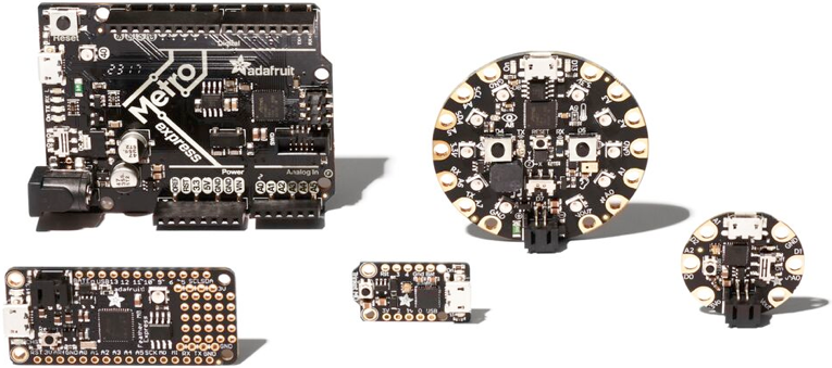 Image of various microcontrollers